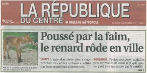 La République du Centre du 14-09-2011